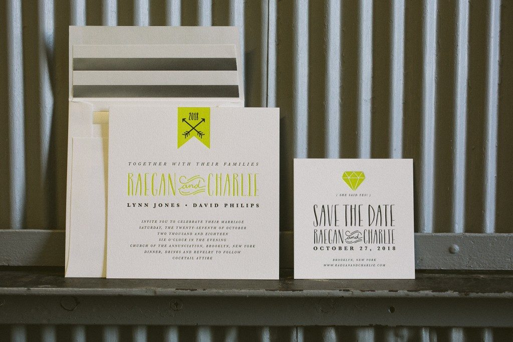 Blakesly wedding invitations + save the dates by Brenda Fox for Bella Figura