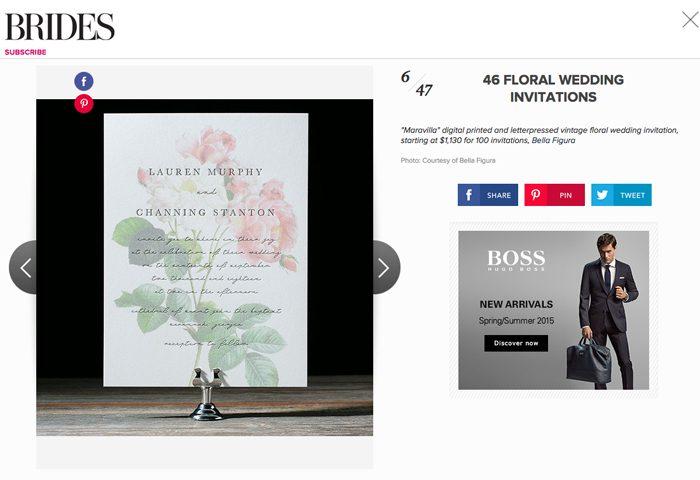 Maravilla wedding invitations from Bella Figura featured on brides.com