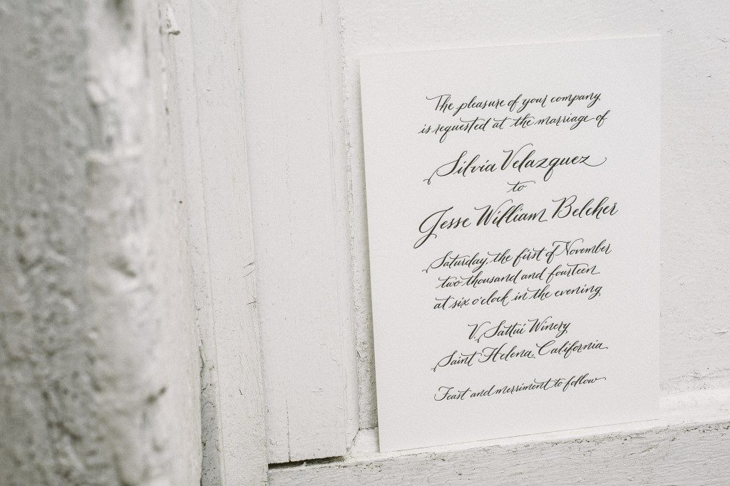Hayden calligraphy wedding invitations | Bella Figura