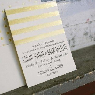 Sweet Henriette wedding invitations by Racheal Bumbolo for Bella FIgura