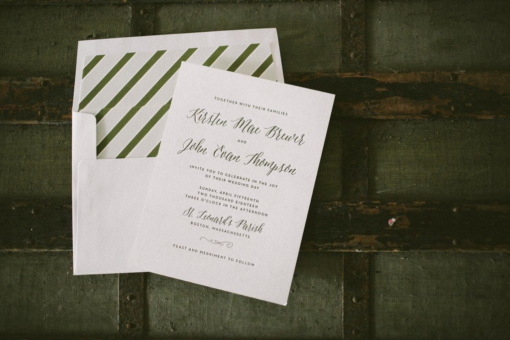 Brewer wedding invitations by Racheal Bumbolo for Bella Figura
