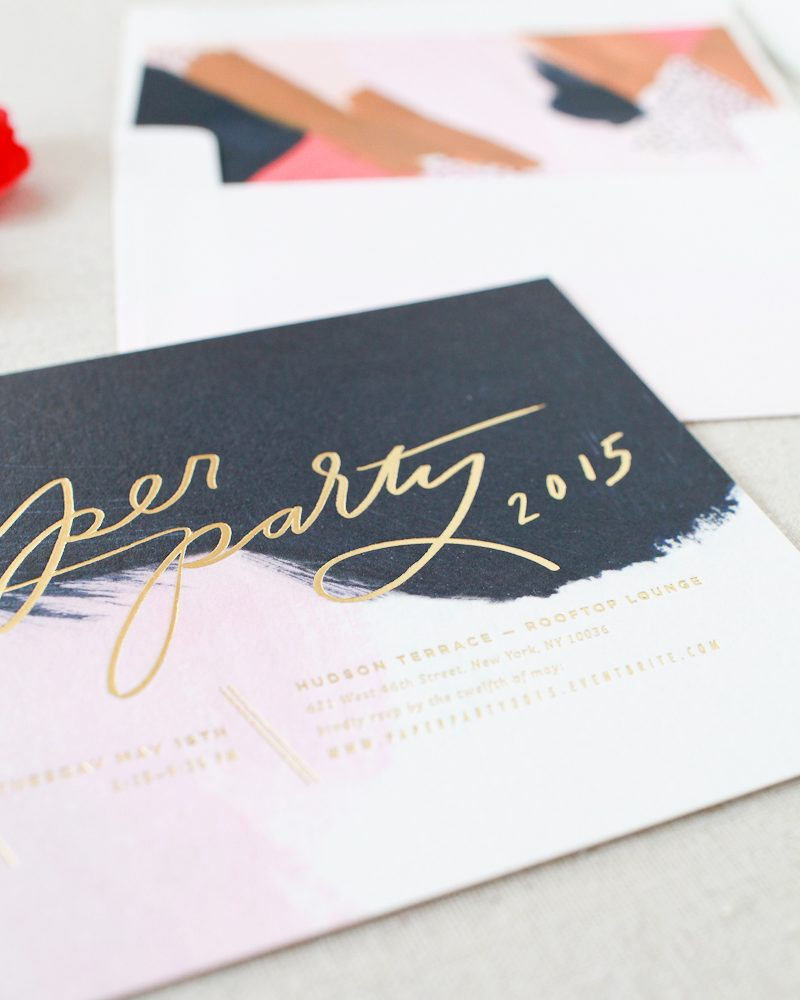 Paper Party 2015 invitations - design by Moglea, printing by Bella Figura, calligraphy by Meant to Be Calligraphy for Paper Party 2015, hosted by Oh So Beautiful Paper
