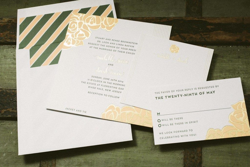 Rose wedding invitations | Bella Figura