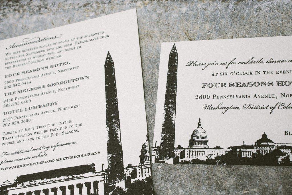 black and gold wedding invitations | Bella Figura