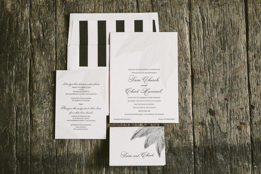 Palm wedding invitations | Bella Figura