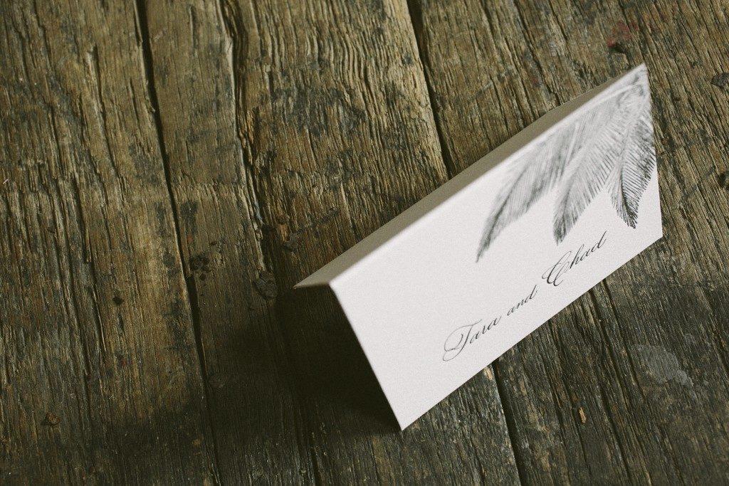 Palm wedding invitations   Bella Figura