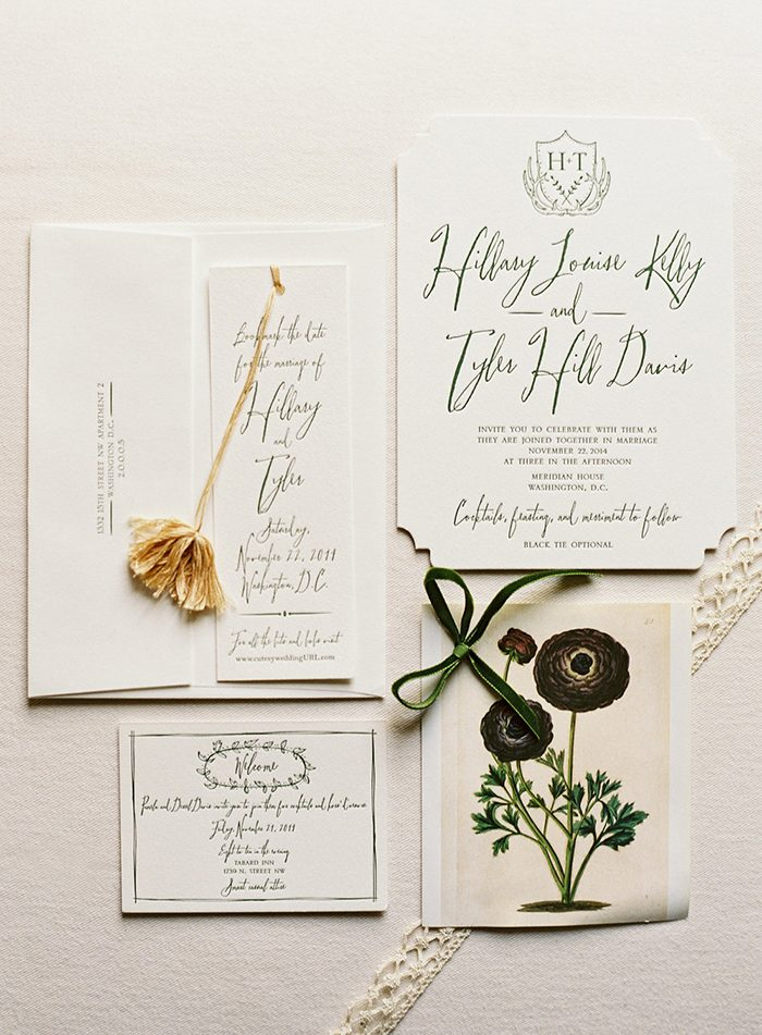 Rustic Woodland invitations from Bella Figura featured on Once Wed