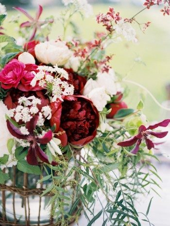 Marsala inspired centerpieces