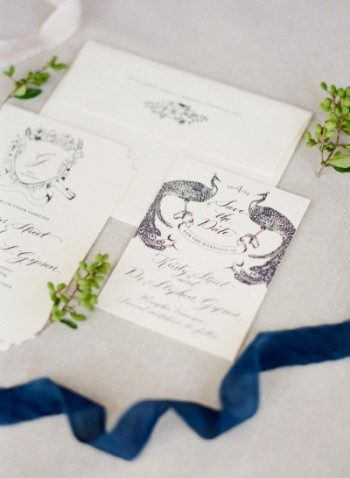 Laurent letterpress wedding invitations + save the dates from Bella Figura