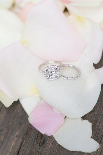 Engagement ring + bridal wedding band