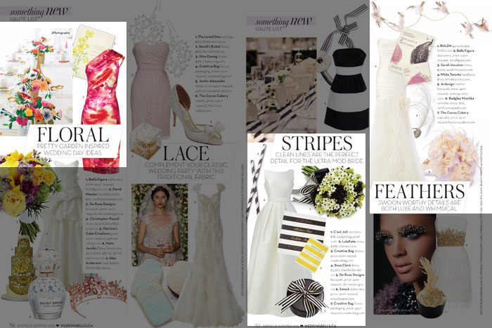 Bella Figura wedding invitations featured in Wedding Bells Magazine