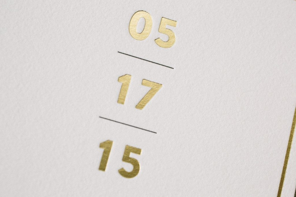 Modern + minimal Duncan black and gold save the dates | Bella Figura