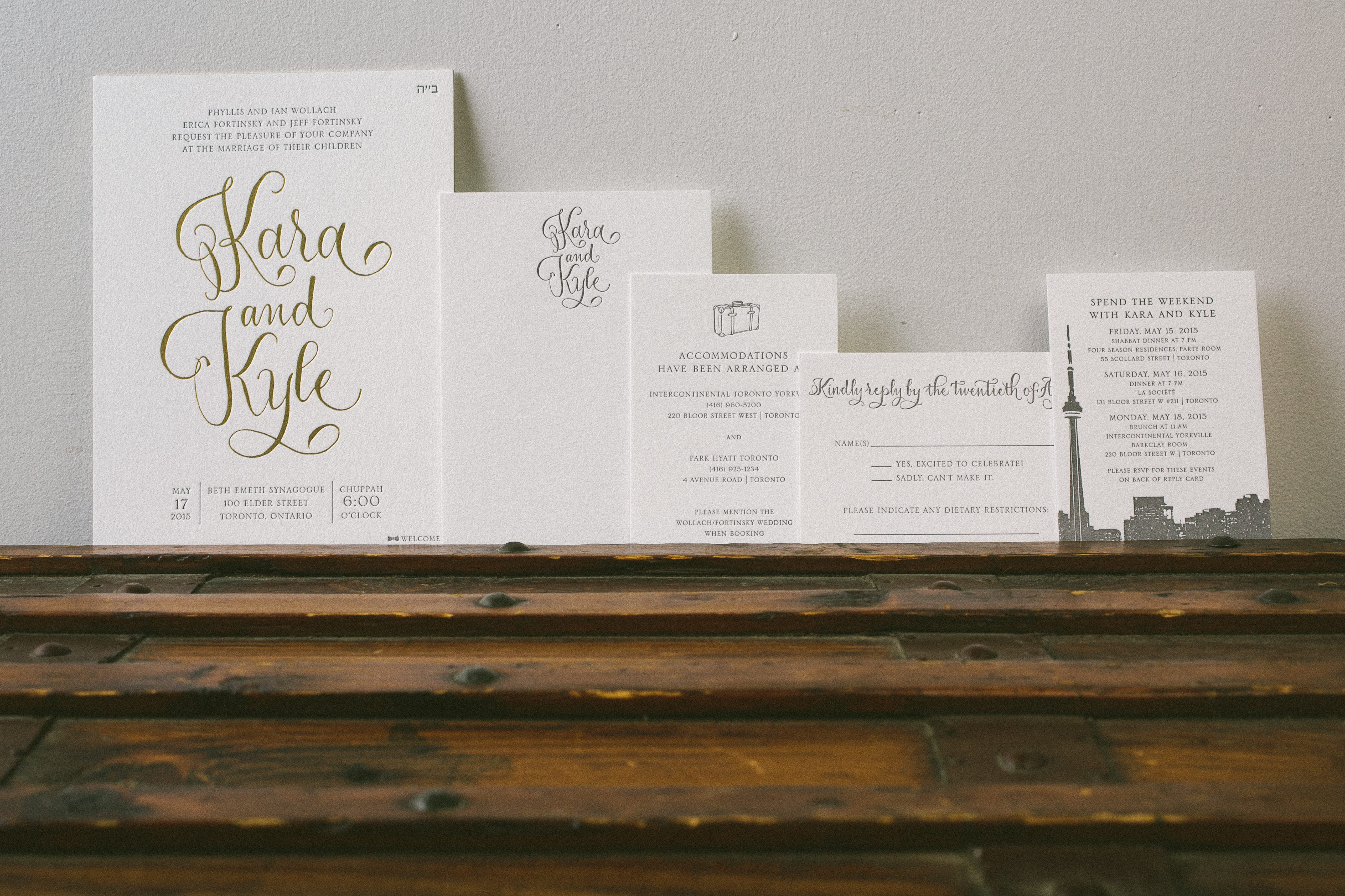 Gray gold modern calligraphy wedding invitations bella figura