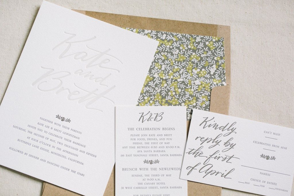 Custom Wedding Invitations Featuring Hand Calligraphy