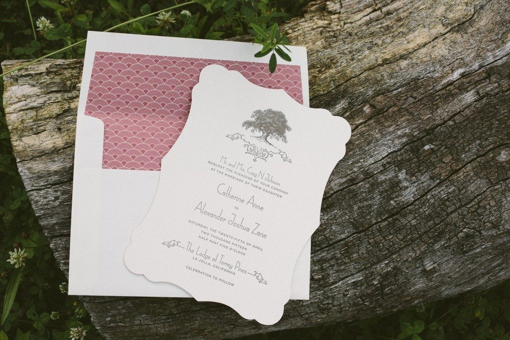 Rustic wedding invitations with modern typography | Bella Figura