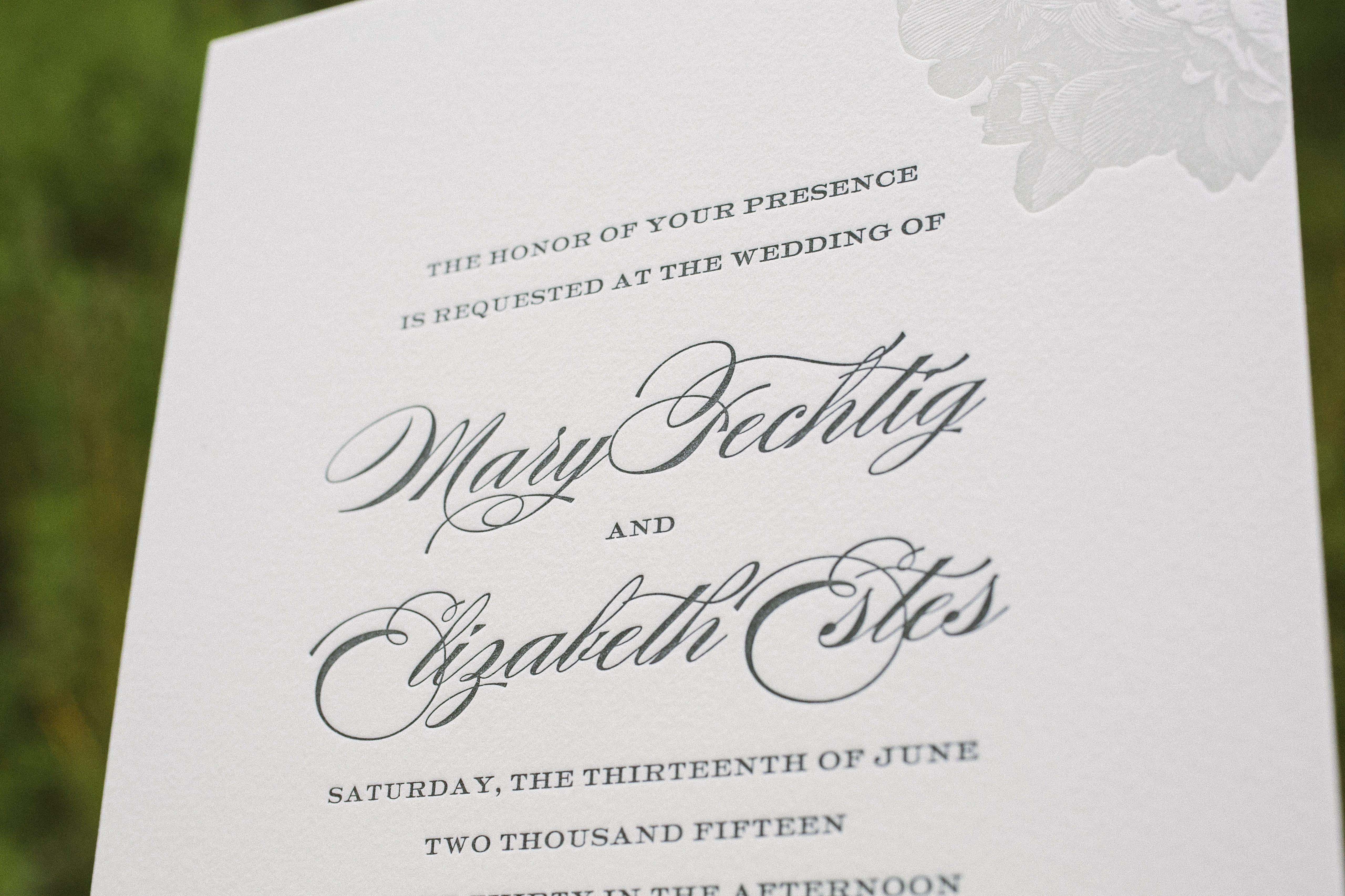 Fancy Wedding Invitations: Monochromatic Elegant Wedding Invitations