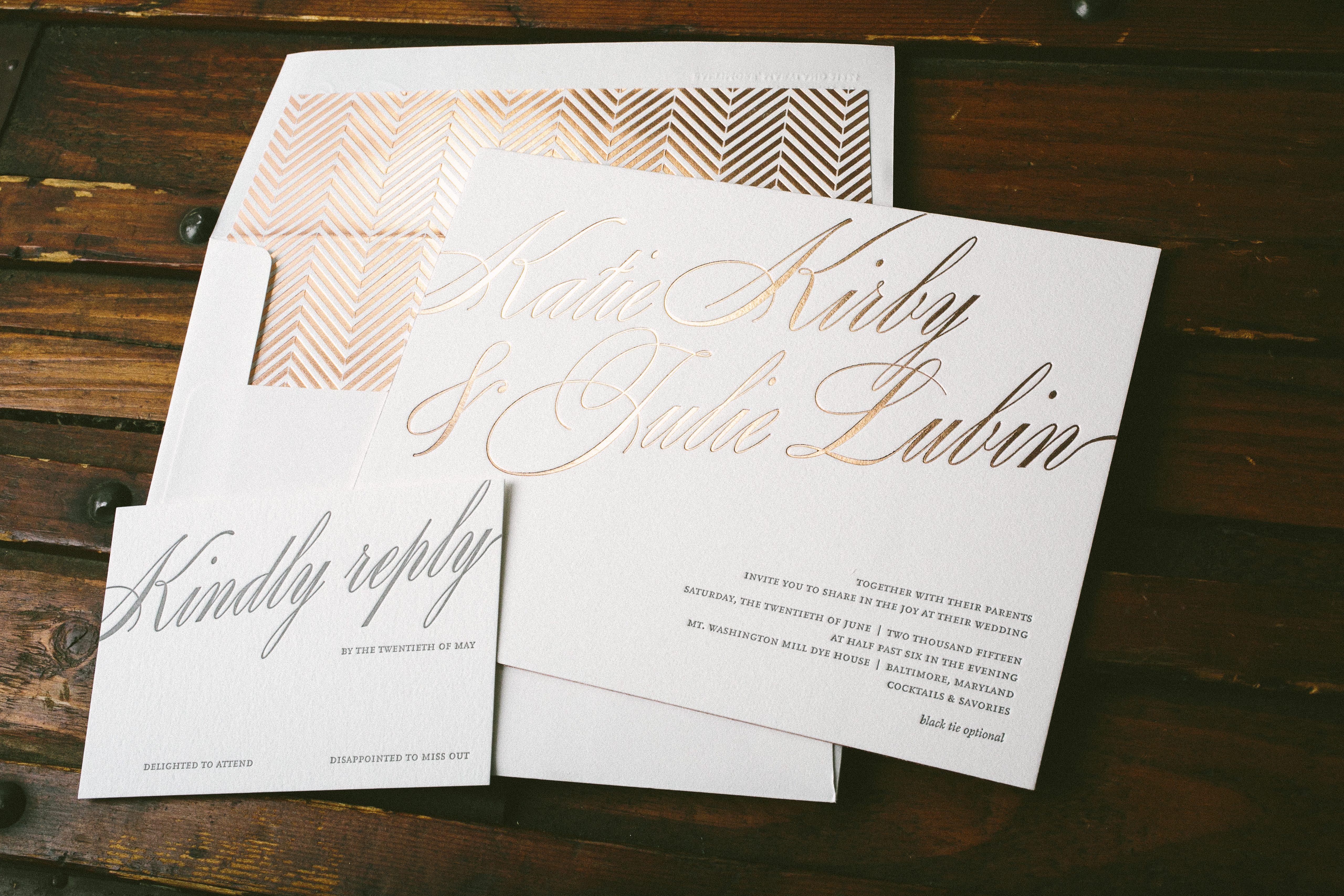 florian script rose gold wedding invitations gold wedding invitations Florian Script rose gold wedding invitations Bella Figura