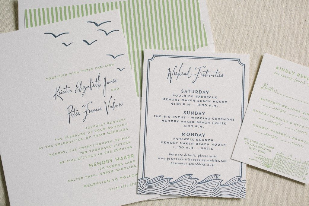 beach wedding invitations | Bella Figura