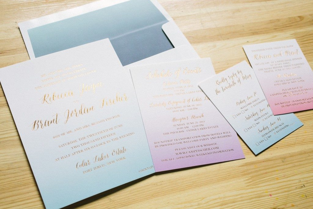Foil digital watercolor wedding invitations bella figura for Digital wedding invitations