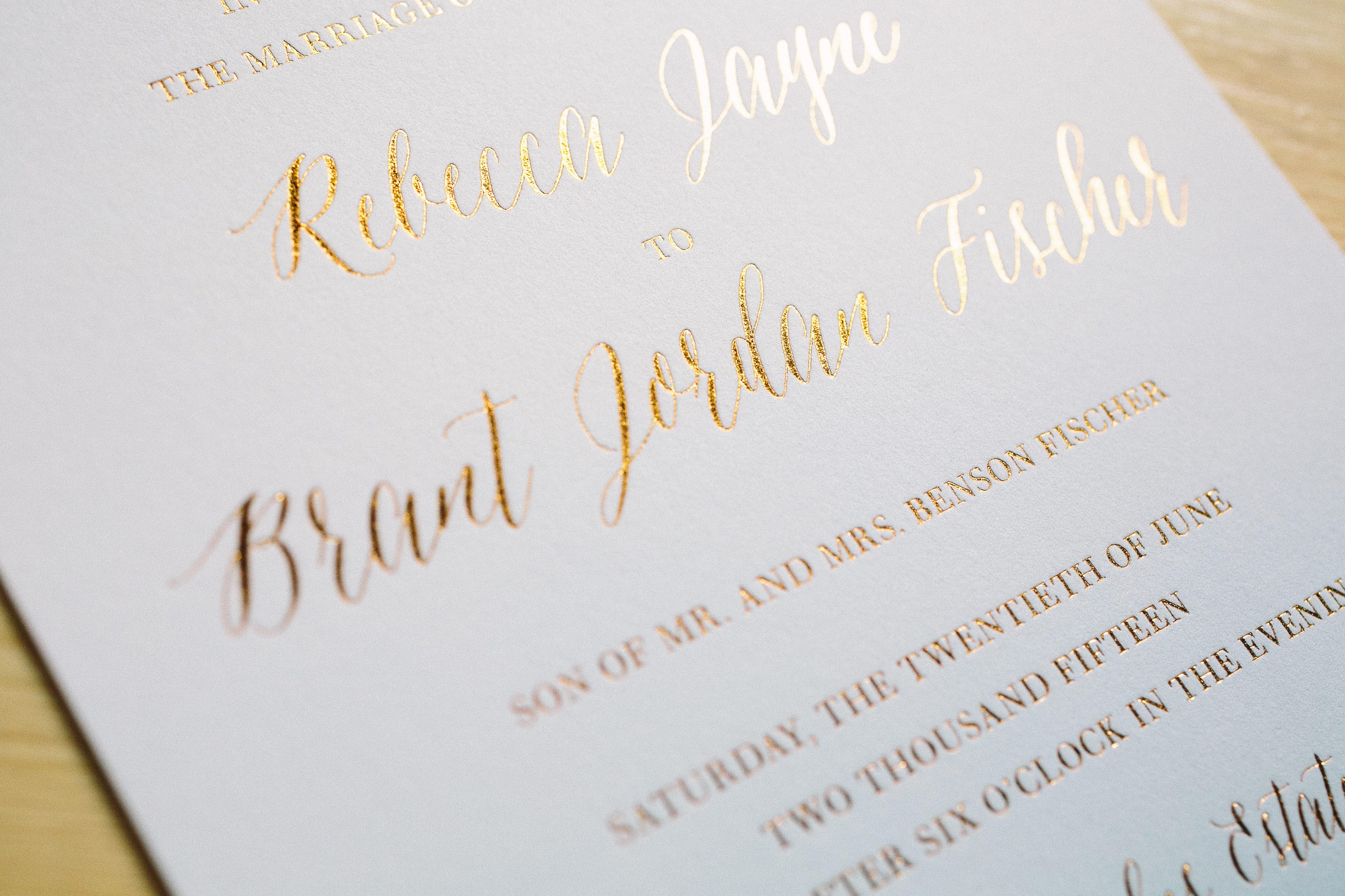 bradley - bella figura, Wedding invitations