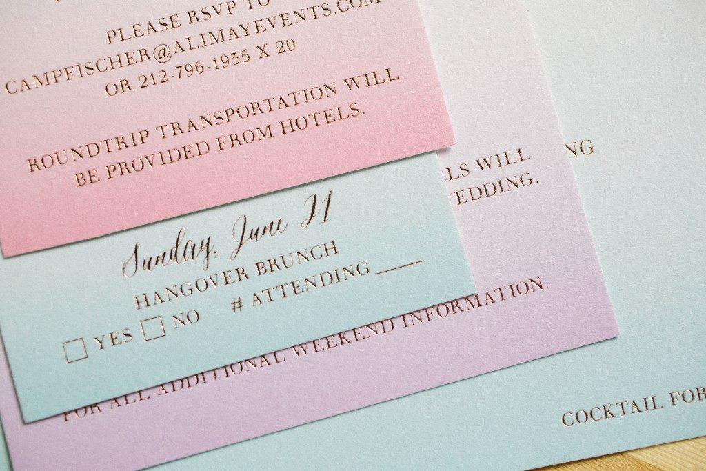 watercolor wedding invitations | Bella Figura