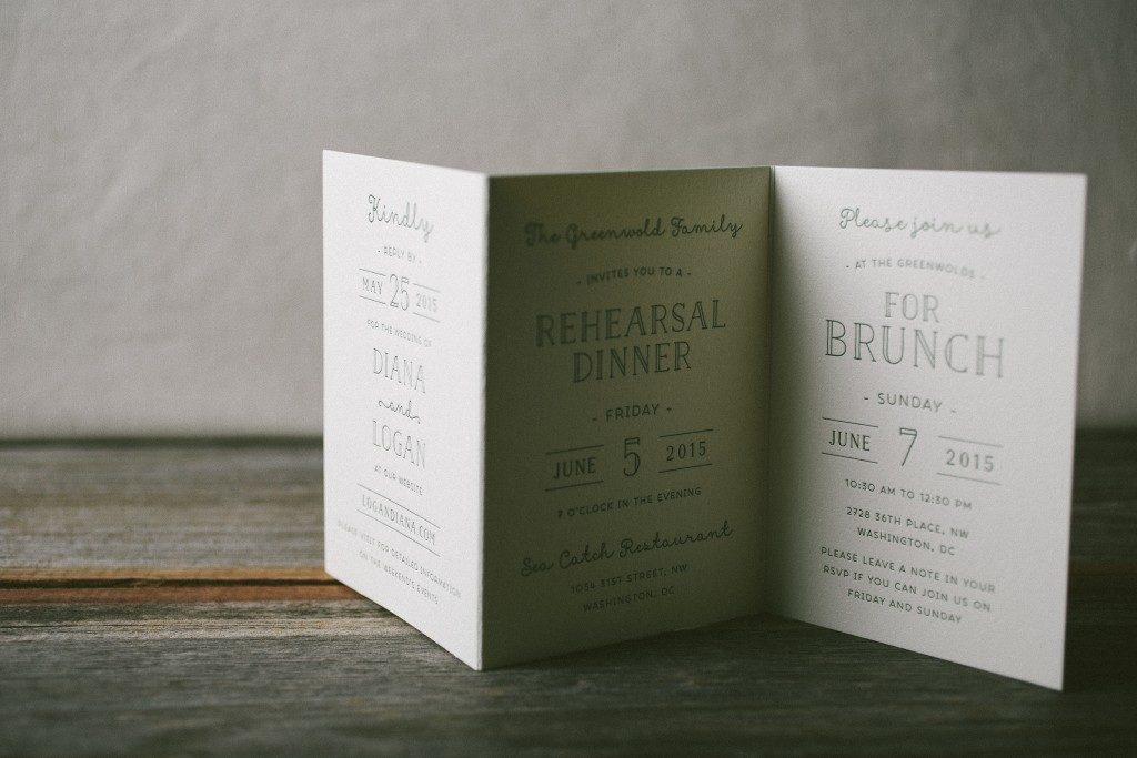 summertime customization of Louie Award winner letterpress wedding invitations | Bella Figura