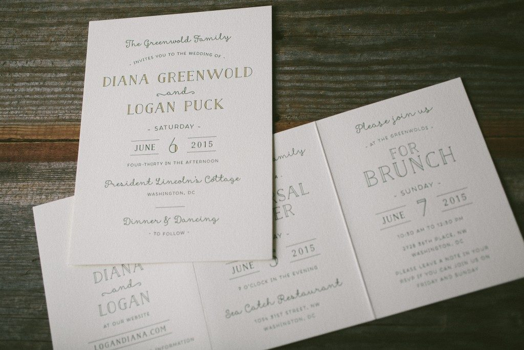 summertime customization of Louie Award winner letterpress wedding invitations | Bella Figura