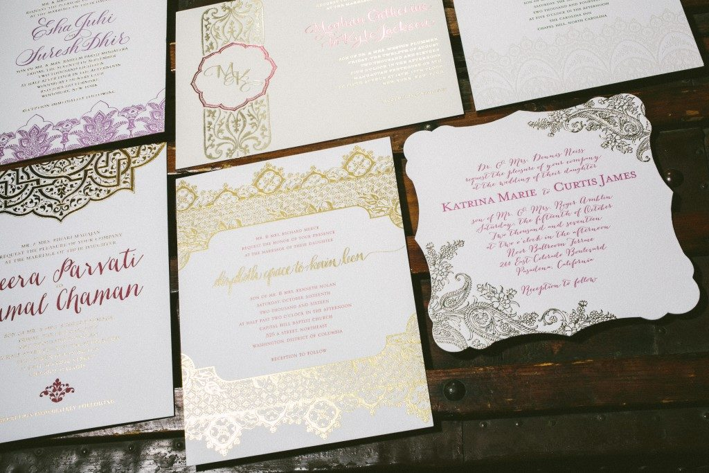 Wedding invitation designs by Aimee O'Boyle for Bella Figura