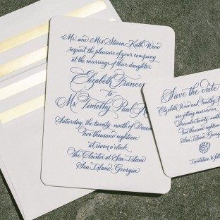Annalisse calligraphy wedding invitations by Sarah Hanna