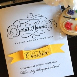 Sarah Hanna + The Windmill Paper Boutique custom map workshop