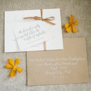 Colette calligraphy invitations by Bella Figura