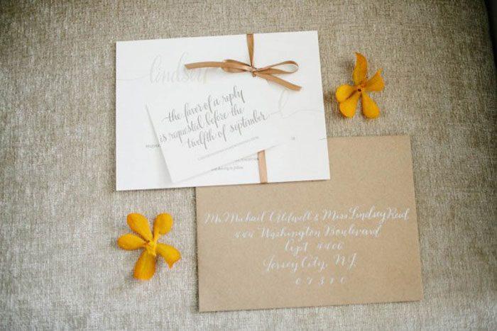 Colette letterpress wedding invitations from Bella Figura