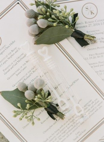 Art deco Odeon wedding programs from Bella Figura