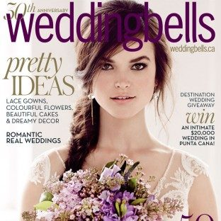 Bella Figura invitations featured in Wedding Bells magazine