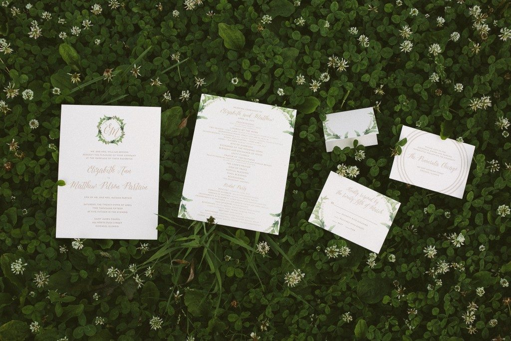 floral wedding invitations | Bella Figura