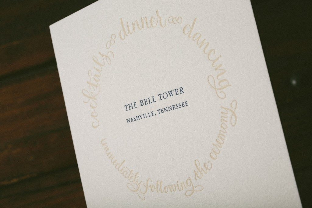 Calligraphy wedding invitations featuring wedding verse | Bella Figura