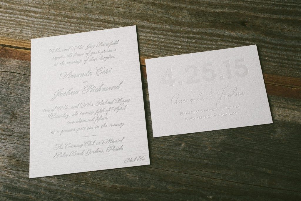 foil stamped faux bois wedding invitations | Bella Figura
