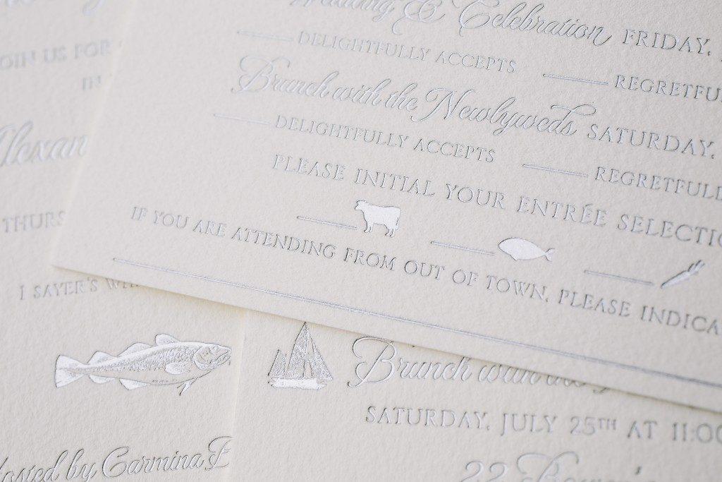 damask wedding invitations | Bella Figura