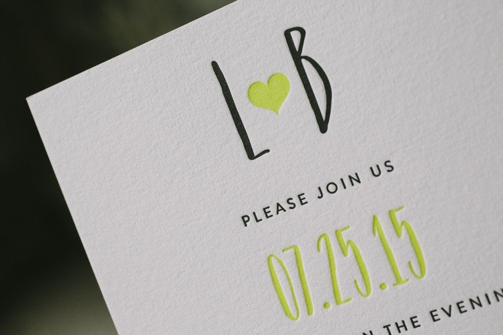 neon wedding invitations | Bella Figura
