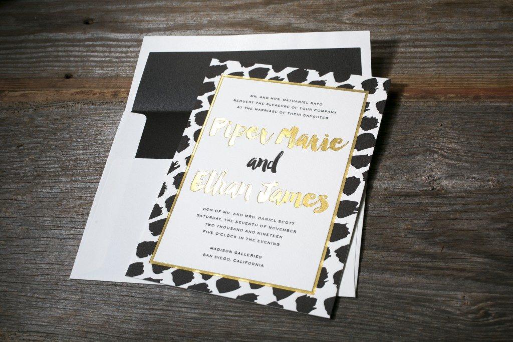 Art Paint wedding invitations from Bella Figura