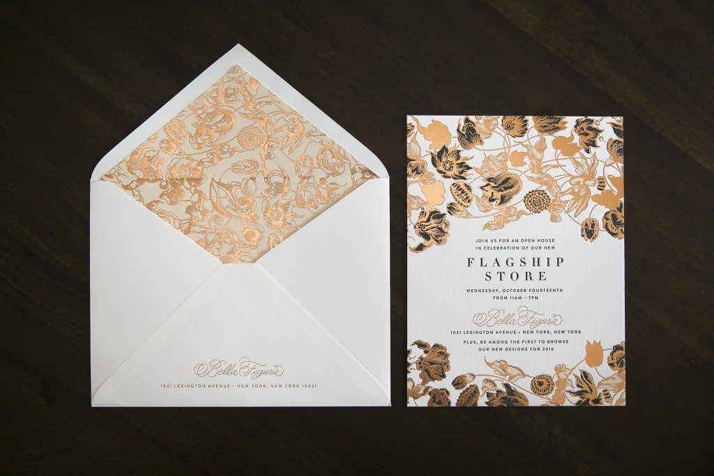 Bella Figura's flagship store launch announcements | Design by Ellie Snow