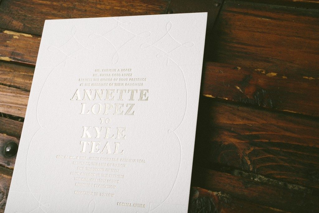 Modern wedding invitations by Bella Figura