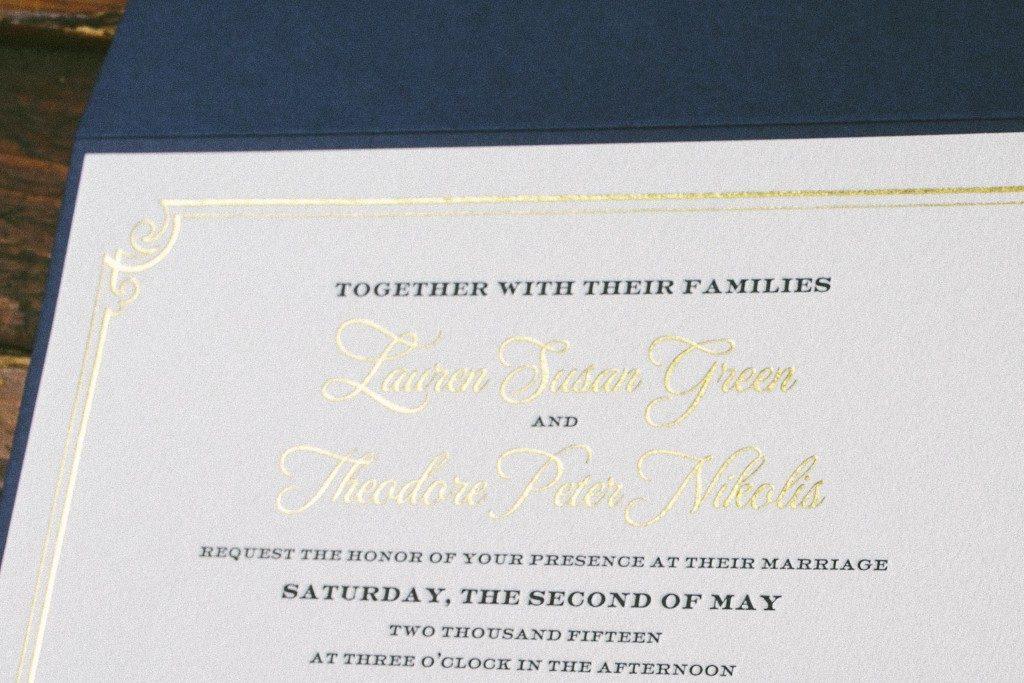 Formal frame wedding invitations for Oheka Castle wedding | Bella Figura
