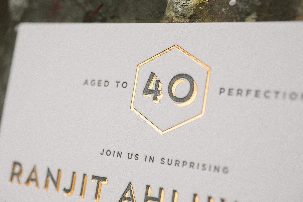 fortieth birthday invitations | Bella Figura