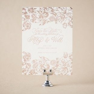 Adele foil stamped save the dates from Bella Figura