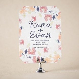 Blossom save the dates from Bella Figura