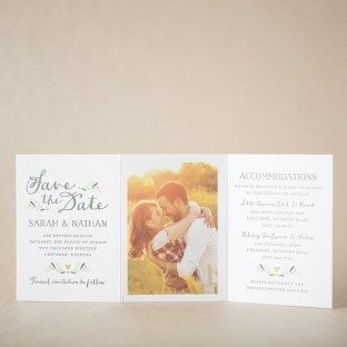 Chaplet Save the Date design