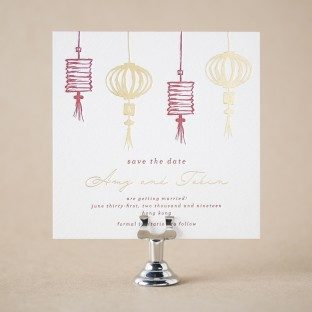 Cherry Blossom save the dates from Bella Figura