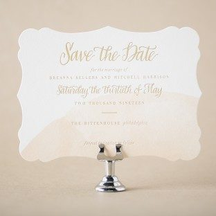 Glamorous Swash save the dates from Bella Figura