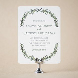 Olive save the dates from Bella Figura